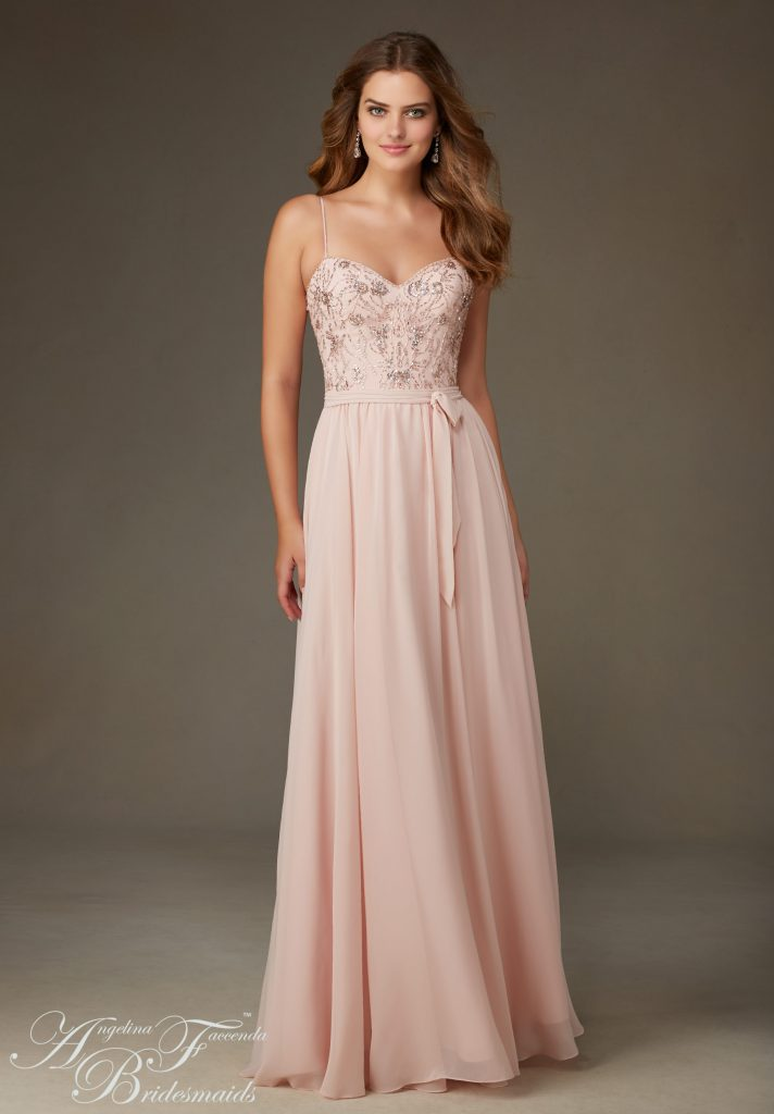 Mori Lee bridesmaids dress available at LuLu's Bridal Boutique in Dallas Texas