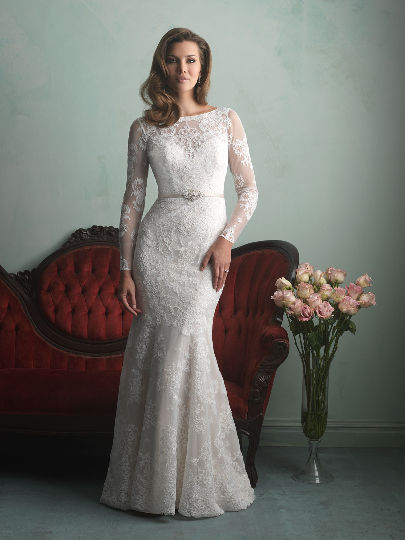 Allure Bridals 9167 wedding gown available at LuLu's Bridal Boutique in Dallas, Texas