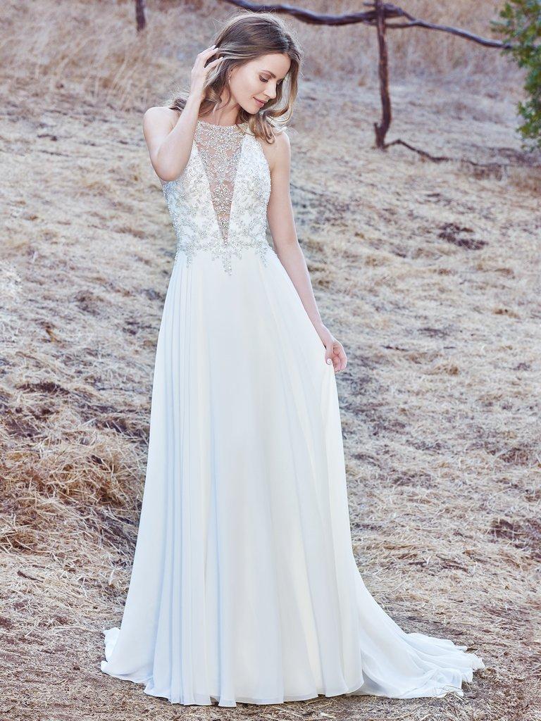 Msmaren This Sleeveless Sheath Wedding Gown Features A Bodice: Lulus Beaded Bodice Wedding Dress At Websimilar.org