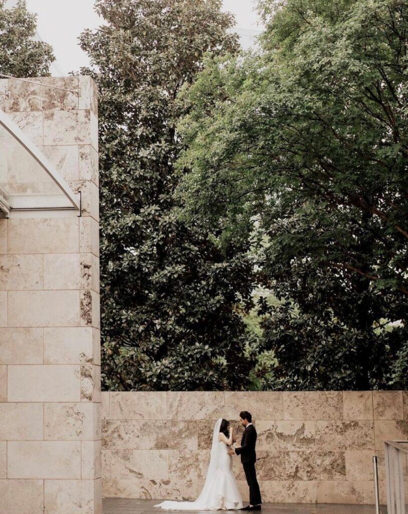 Man & woman standing outsideoutside