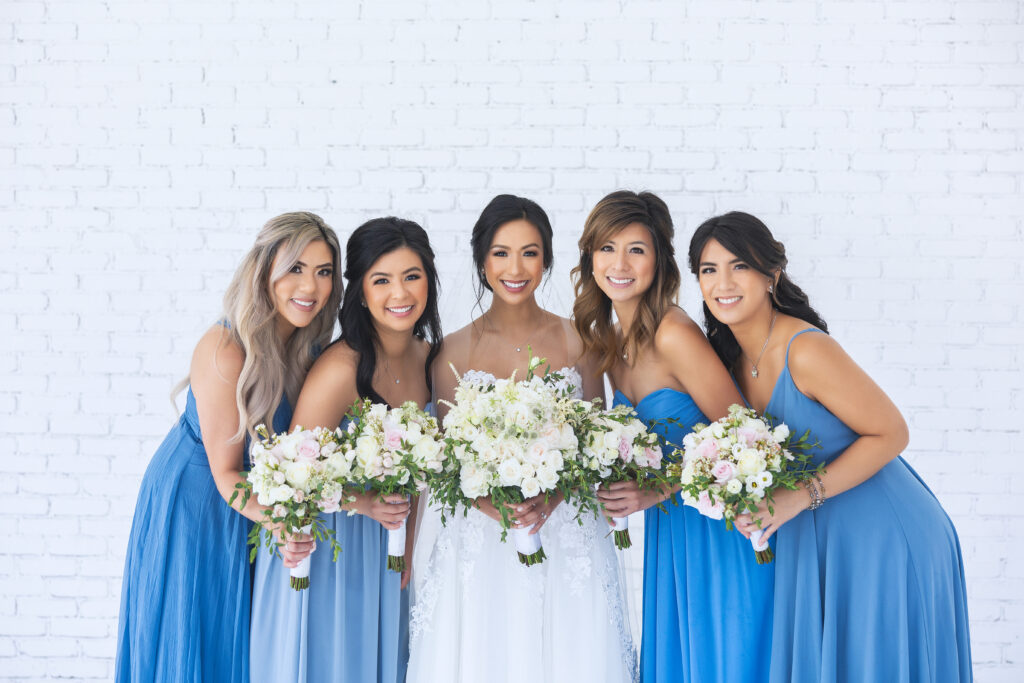 Real Bride Alice and her bridesmaids